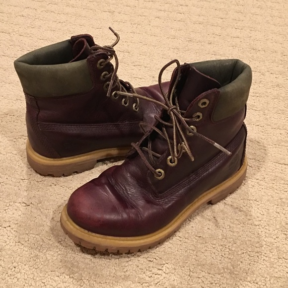 Earthkeepers Poshmark Leather Maroon Boots Timberland 6w Xa8d4dx